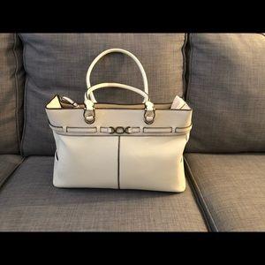 Handbags - Cream Bag w/Planner